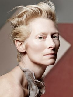 Tilda Swinton Posing For The Camera