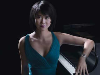 Yuja Wang Posing For A Picture