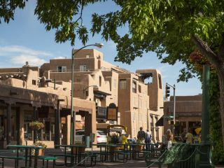 Hotel view from the Santa Fe Plaza