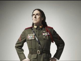 Weird Al Yankovic Wearing A Military Uniform