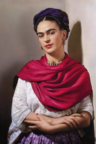 Frida Kahlo In A Red Dress