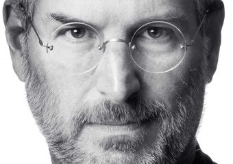 A Close Up Of Steve Jobs Wearing Glasses And Looking At The Camera