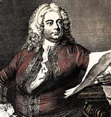 George Frideric Handel Sitting On A Book