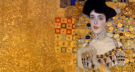Gustav Klimt Standing Next To A Stuffed Animal