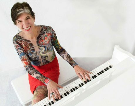 Marcia Ball Sitting On A Table