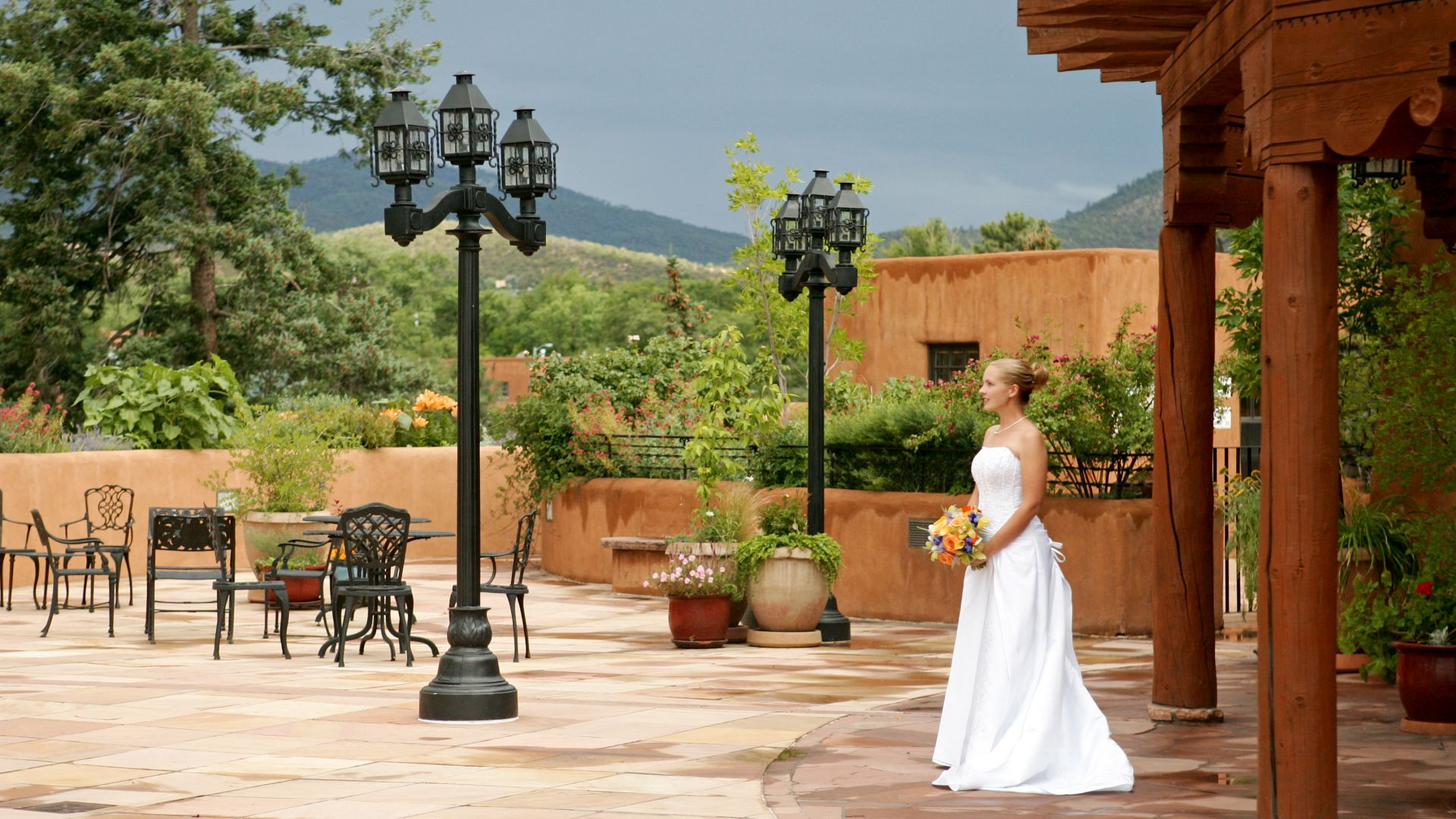 Outdoor Wedding Venue Santa Fe Nm La Fonda On The Plaza