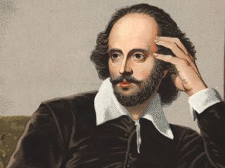William Shakespeare Wearing A Suit And Tie