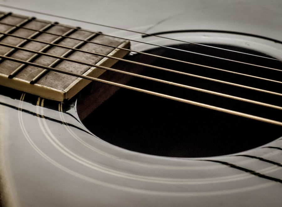 Close up of guitar